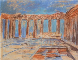 interior, parthenon, acropolis, athens, greece by louis i. kahn