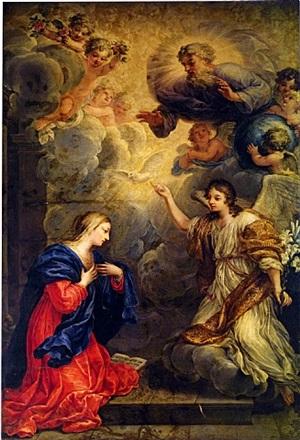 the annunciation by johann paul schor
