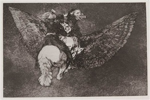 renounce the friend who covers you with his wings and bites you with his beak by francisco de goya