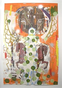 song keeper f (green dots) by angelbert metoyer