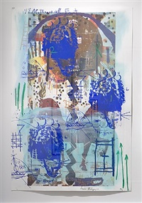 song keeper h (3 blue faces) by angelbert metoyer
