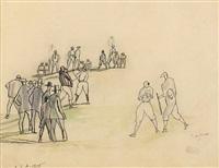 base ball game by jules pascin