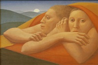 moon rise by george tooker