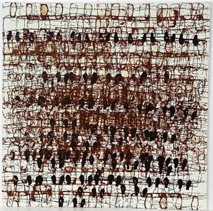 untitled (brown) by mark bradford