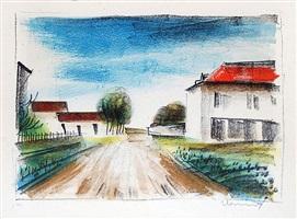 entrée de village ii (la route de francheville) by maurice de vlaminck
