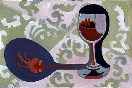 weinglas (wine glass) by ernst ludwig kirchner