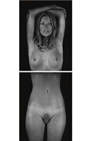 kate moss by chuck close