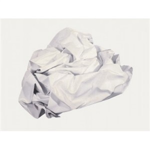 nothing (white) by angela de la cruz