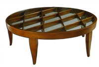 exceptional and spectacular round coffee table by gio ponti for giordano chiesa. by gio ponti