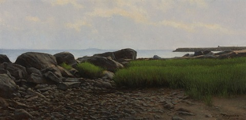 rocks at low tide, madison (sold) by peter bergeron