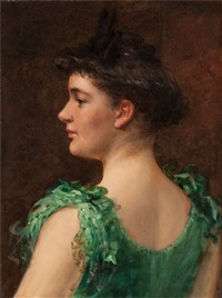 the green dress by james carroll beckwith