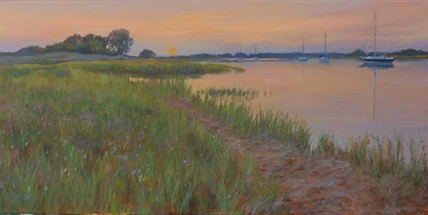 grass island glow (sold) by susan jositas