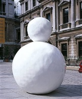 back of a snowman (white) by gary hume