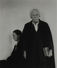 alfred stieglitz and georgia o'keeffe, new york city by arnold newman
