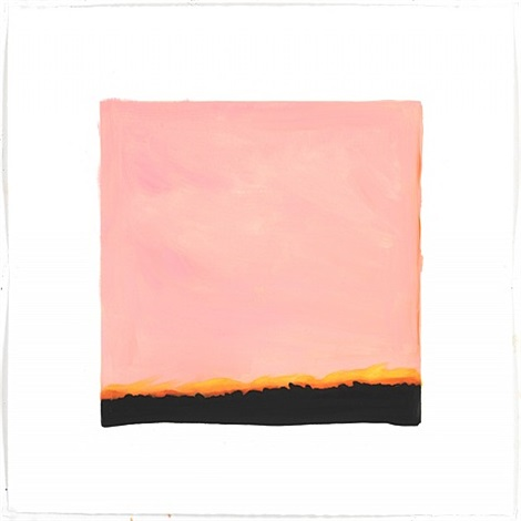 film edge (pink sky, yellow horizon) by isca greenfield-sanders