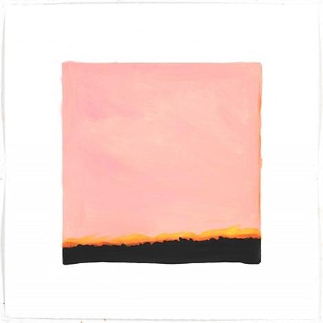 film edge (pink sky, yellow horizon) by isca greenfield-sanders