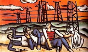 l'equipe au repos by fernand léger