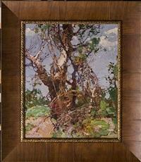 landscape with a tree by stepan feodorovich kolesnikov