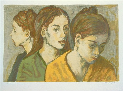 three young women by moses soyer