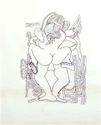erotic drawing i by francis newton souza