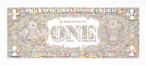 untitled dollar bill back by tom friedman