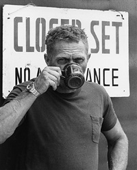 "steve mcqueen on the set of 'papillon"", montego bay, jamaica, april 18, 1973 by ron galella"