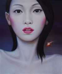 untitled (china girl & fish) by zhang xiangming