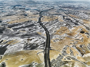 dryland farming #27, monegros county, aragon, spain by edward burtynsky