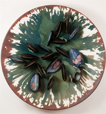 plate with clams by adriana varejao