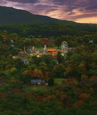 fairgrounds at twilight by scott prior