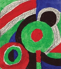 cercles verts by sonia delaunay-terk