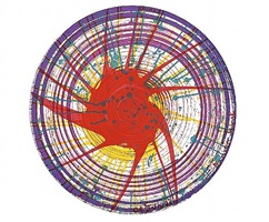 round (from in a spin the action of the world on things) by damien hirst