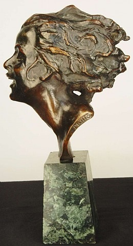 head of a young woman by joseph c. motto