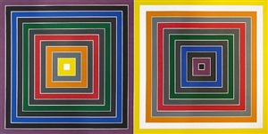 grey scramble x (double) by frank stella