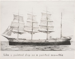 untitled (painted ship on painted sea) by rob reynolds