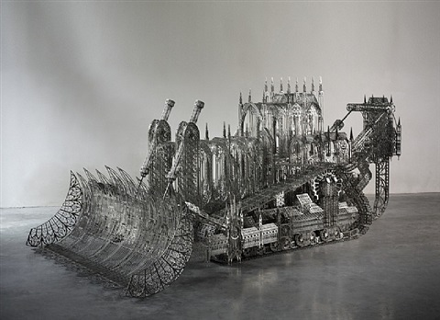 d11 bulldozer scale model by wim delvoye