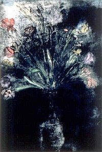 hand colored flowers ii by jim dine