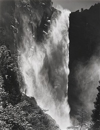 bridalveil fall, yosemite national park, ca by bob kolbrener