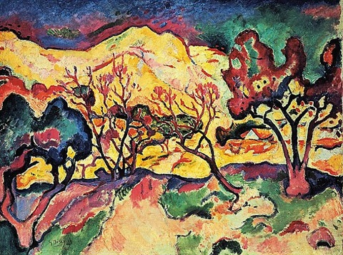 landscape at l'estaque by georges braque