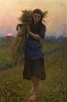 gleaner (glaneuse) by jules breton