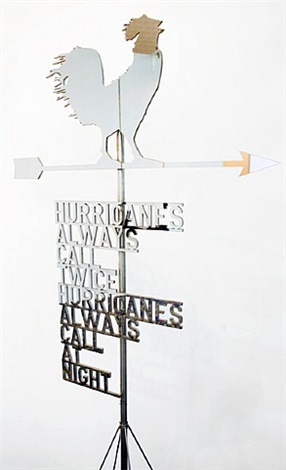 untitled 2011 (the future will be chrome) (weathervane) by rirkrit tiravanija
