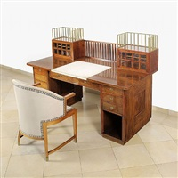 desk and chair by josef hoffmann