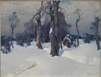 winter landscape by stepan feodorovich kolesnikov