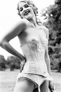 isabelle in corsette, rouilly le bas by ellen von unwerth
