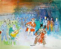 les clowns et musiciens by jean dufy