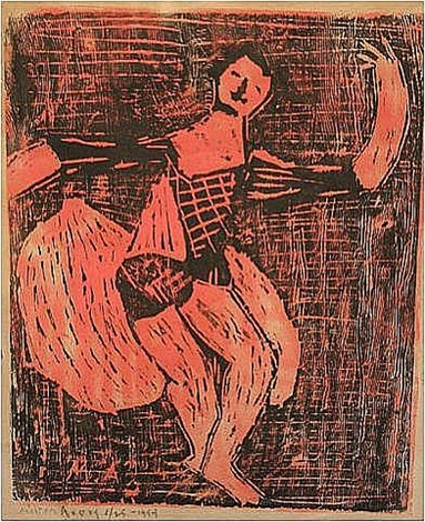 dancing jester by milton avery