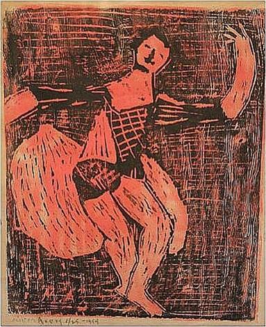dancing jester by milton avery