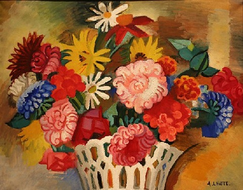 corbeille de fleurs (basket of flowers) by andré lhote