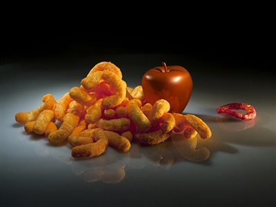 still life with funyun by claudia hart