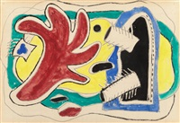 feuille rouge by fernand léger